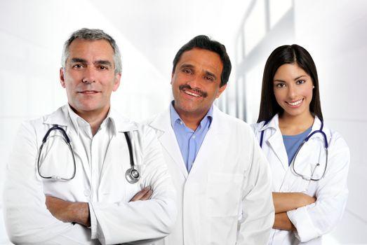 doctors multiracial expertise indian caucasian latin