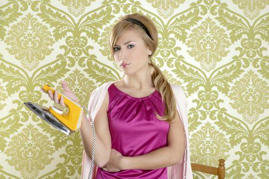 Clothes iron vintage woman retro housewife humor