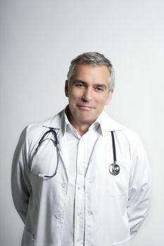 expertise doctos senior gray hair smiling portrait