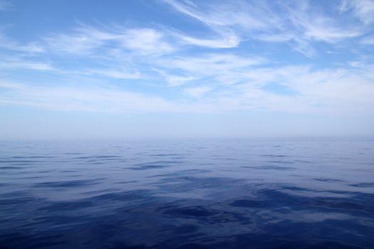 Calm sea blue water ocean sky horizon scenics