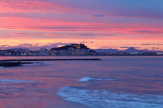 mediterranean sunset on sea Denia