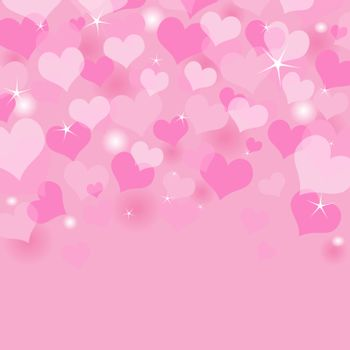 Beautiful Valentine's Day background with coloring hearts