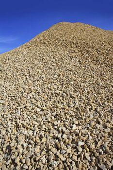 crushed pound stone mound quarry