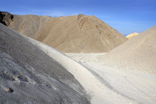colorful construction sand mound quarry variety
