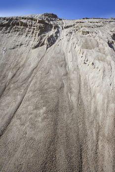 white sand quarry mound mountain