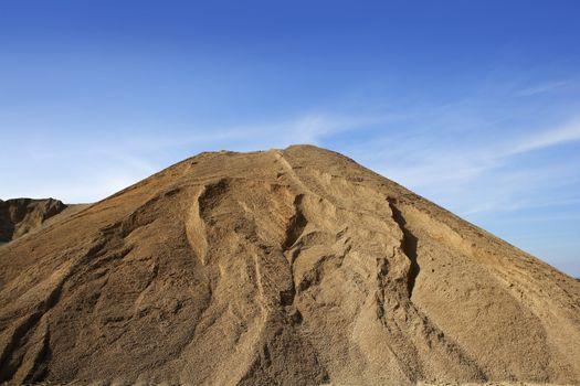 brown construction sand quarry mound