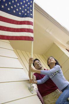 Raising the flag at home