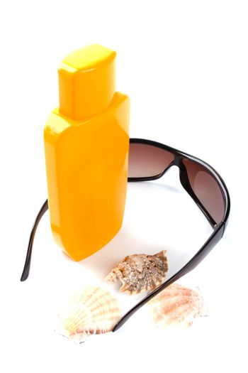 sunglasses and lotion