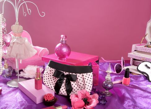 barbie style fashion makeup vanity dressing table