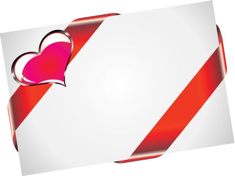 Valentine PostCard With White Space for text