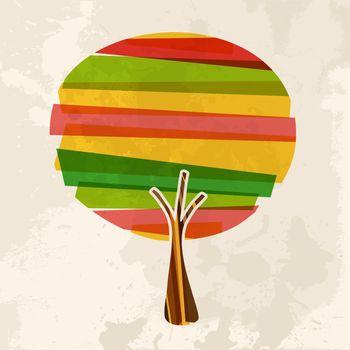 Multicolor single tree