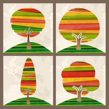 Multicolor tree set