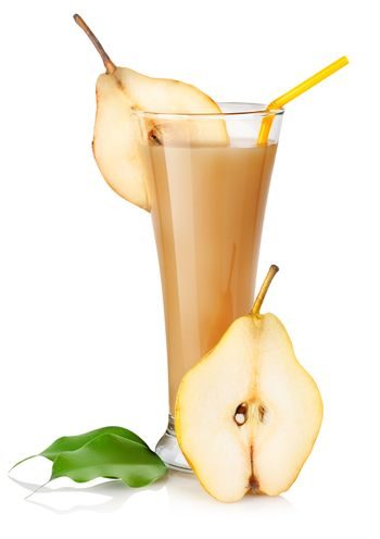 Pear juice isolated