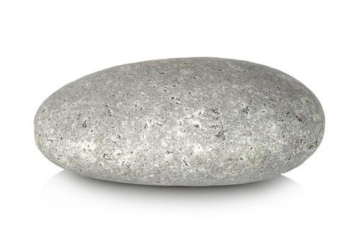 Round stone isolated
