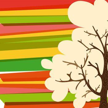 Multicolor tree background