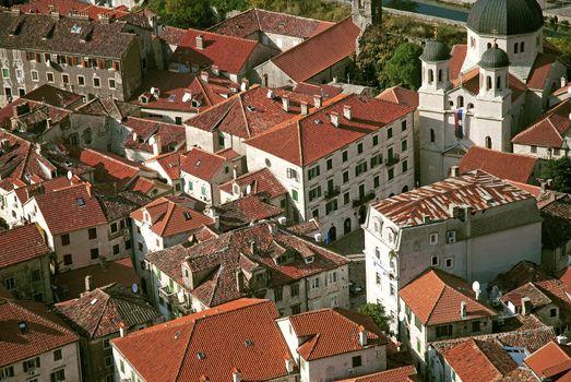 view of kotor town in montenegro