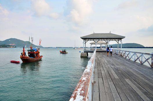 Beautiful old pavilion on Sichang island at chonburi province,Th