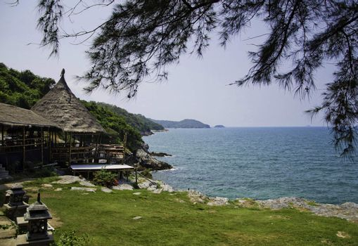 Si Chang Island, sea view of eastern in thailand