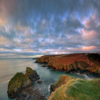 sunrise at the irish coast