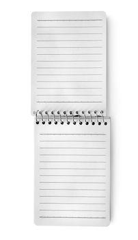 White blank notepad