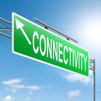 Connectivity concept.