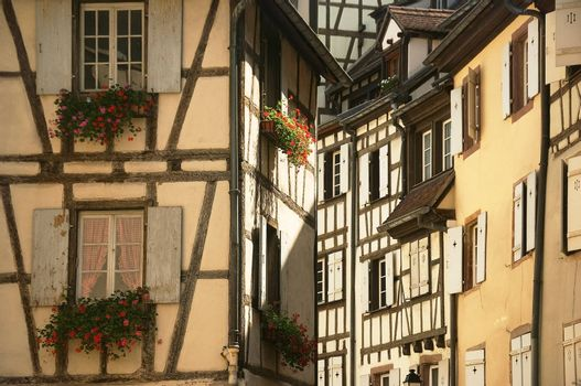 urban landscape of the historical town of Colmar in France