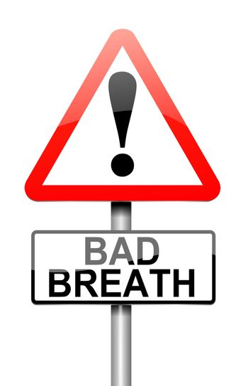 Bad breath concept.