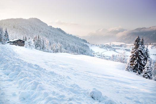 Mountain area in the Alps near Kufstein, Austria