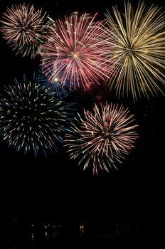 Fireworks display on Canada Day celebration