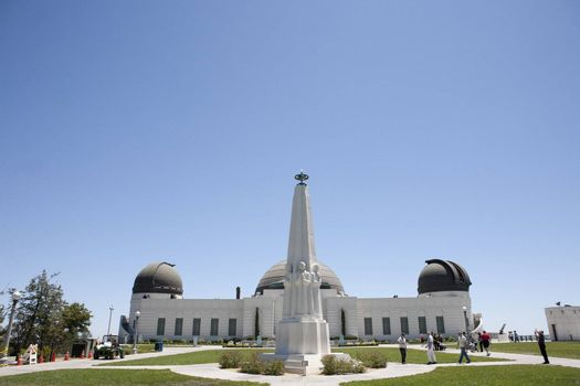 Griffith Observatory in Los Angeles, CA near Hollywood. Some films were filmed here. Very popular with tourists.