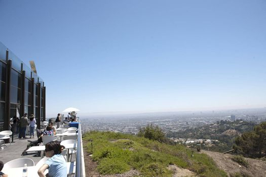 Wide angle view from the Griffith Observatory, in LA, CA.