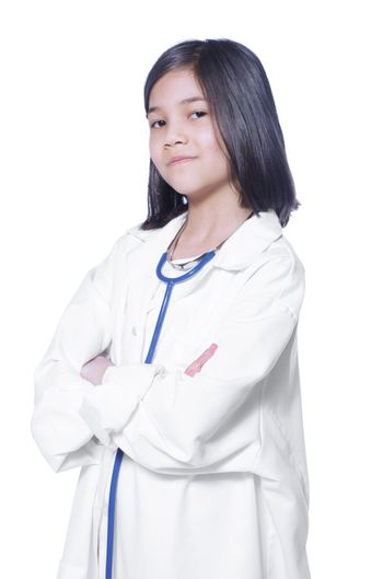 Child playing doctor