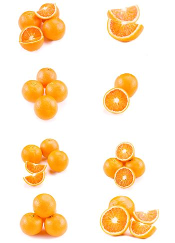 Collage with oranges