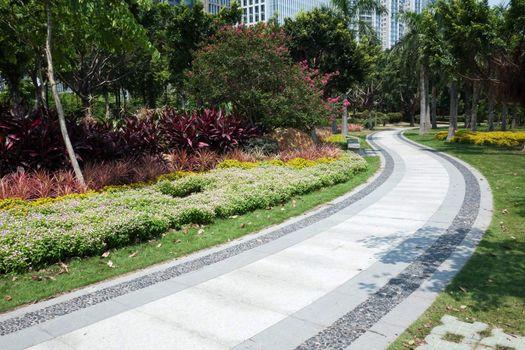 Road in the garden in Guangzhou, China