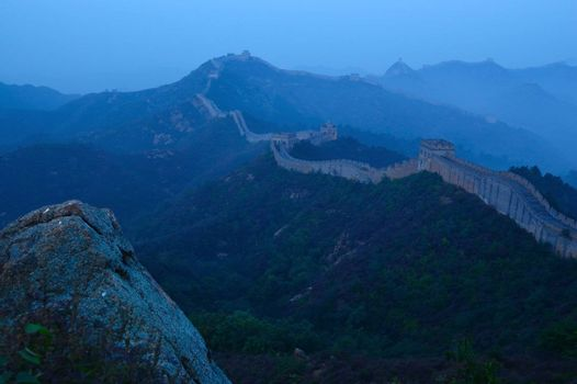 Great Wall of China in Jinshanling, Hebei Province