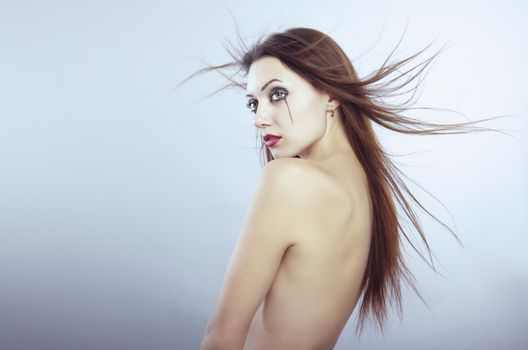 Naked Gothic woman