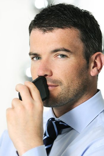 businessman is calling