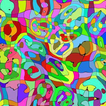Seamless creative colorful artwork