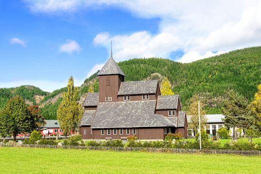 Village church in Scandinavia