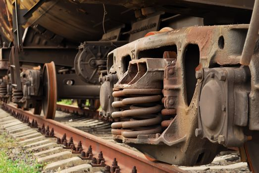 damping suspension freight train