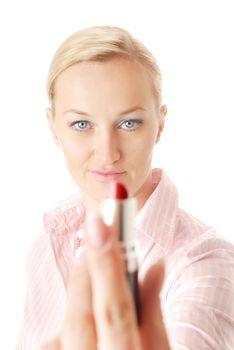 I give you my lipstick