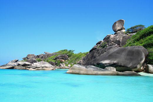 Similan National Park tropical beach island in Thailand