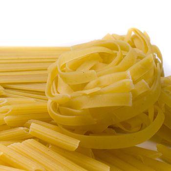 various shapes of pasta