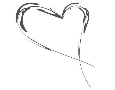 Black heart vector graphic illustration        Black heart vector graphic