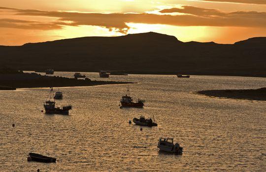 sundown in scottish bay