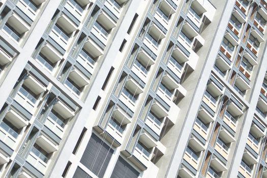 Hostel windows of university