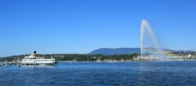 Geneva view on the lake, Switzerland
