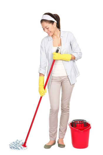 Spring cleaning woman