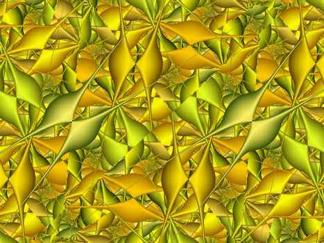 golden fractal pattern, abstract background texture