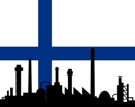 Industry and flag of Finland